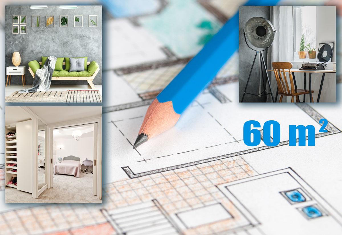 Progetto casa 60 metri quadri rifare casa for Casa moderna 60 mq