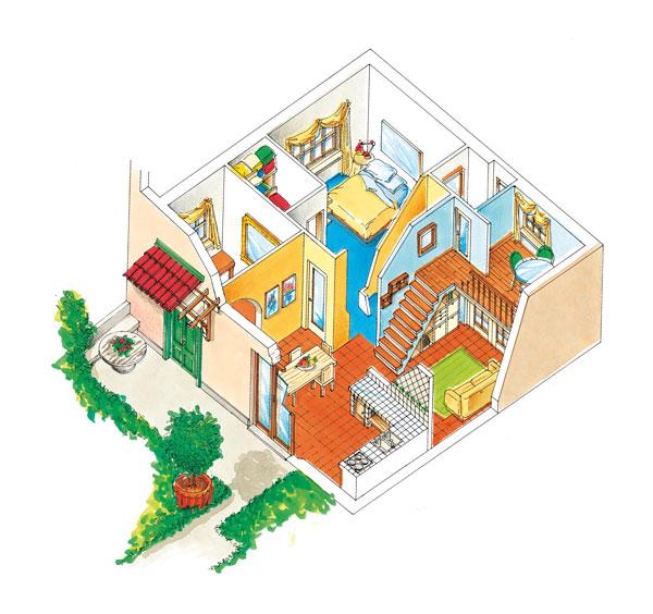 Progetto casa 60 metri quadri rifare casa for Dividere una casa