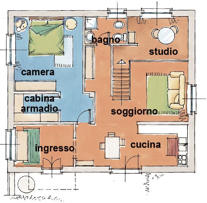 Planimetria casa 60 mq for Planimetria stanza