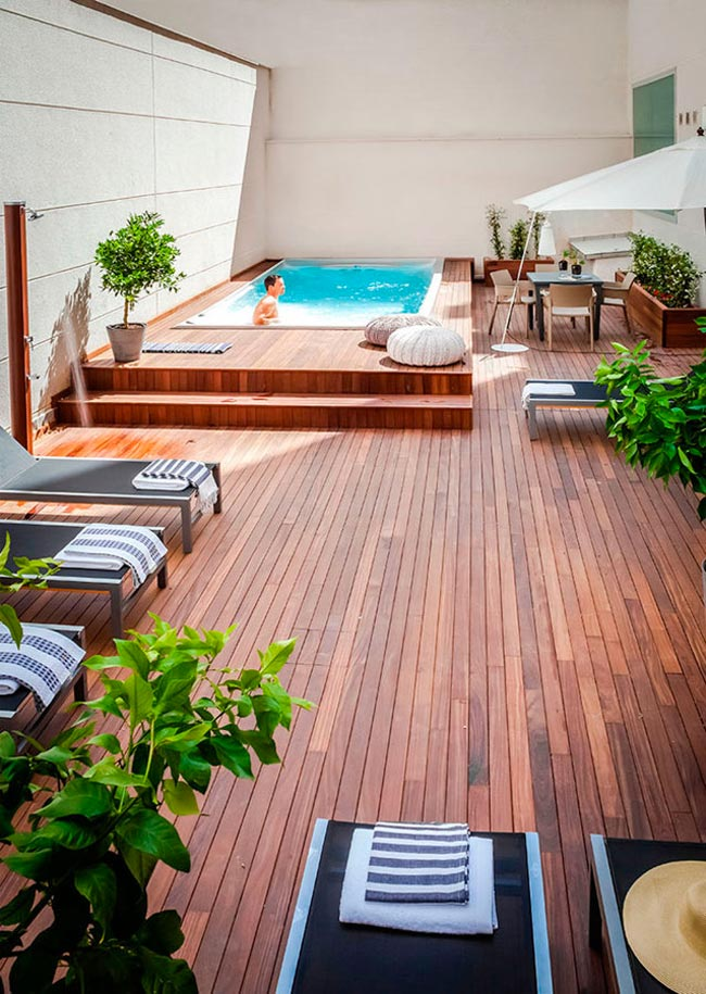 piscine-da-terrazzo-legno - Rifare Casa