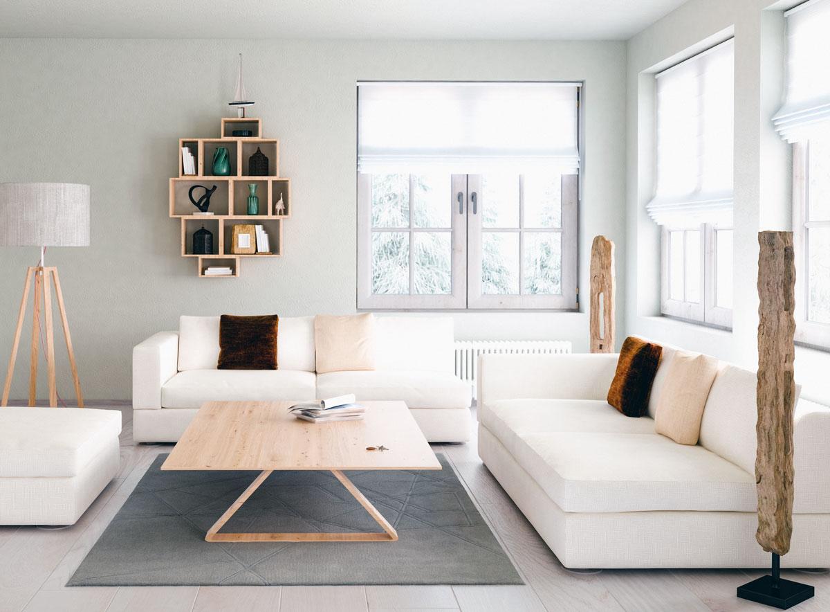 Tende a pacchetto come si realizzano for Soggiorno minimalista