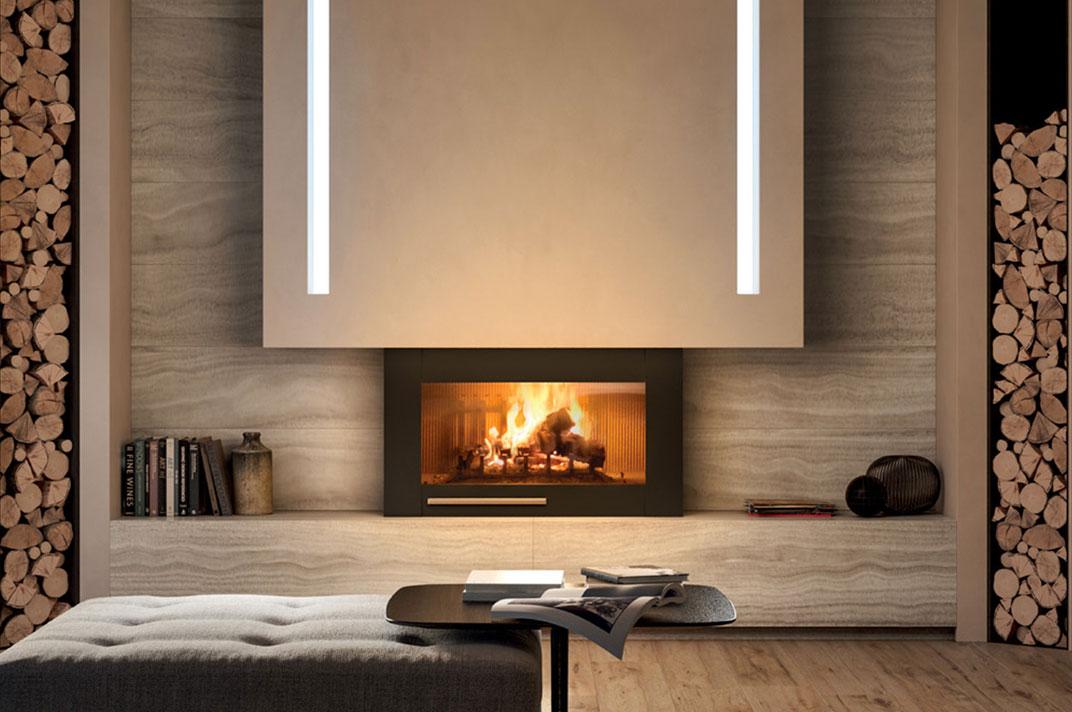 Miramare Palazzetti: nuovo caminetto con basamento e pareti ...