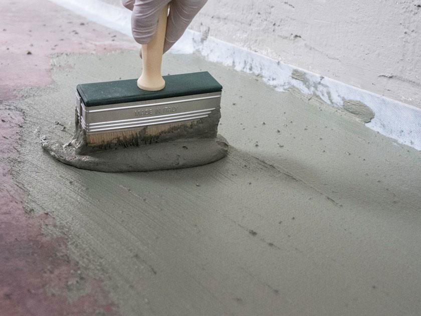 applicazione del cemento impermeabilizzante osmotico