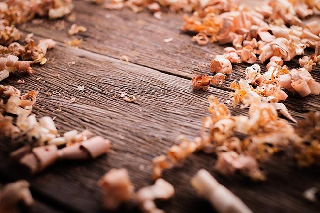 trucioli di legno