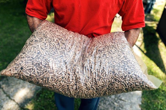 sacco da 15 kg di pellet