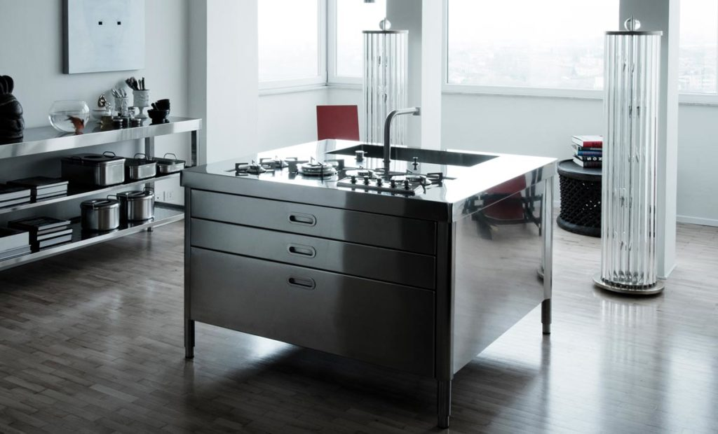 cucine moderne in acciaio