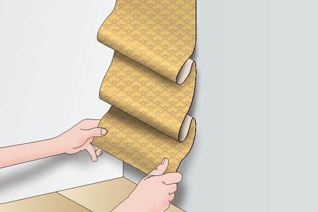 come mettere la carta da parati